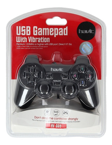 joystick control pc con vibracion-havit- game pad analogico.