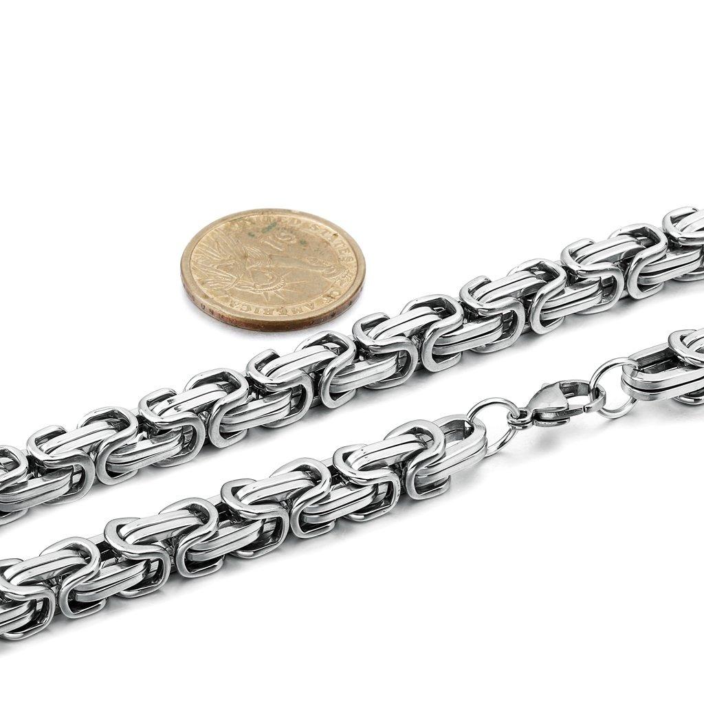7028eca9e17a jstyle collar de cadena de acero inoxidable para hombre c. Cargando zoom.