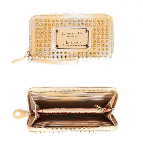 juanita jo billeteras tachas 30015 en stock solo  dorado