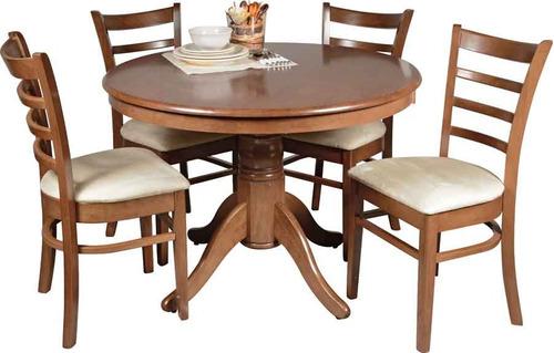 juego comedor 4 sillas madera comedores divino