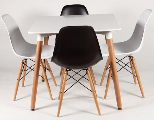 Juego Comedor 2 Nordico Eames Sillas Diseño Estilo Mesa OZXPkui
