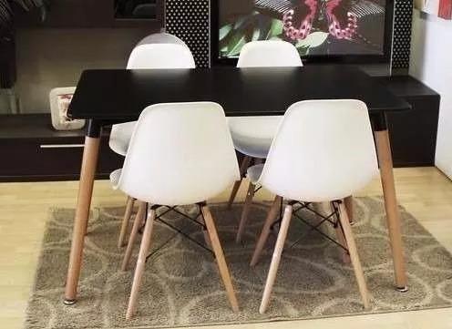 Juego Comedor Eames 2 Sillas Living Mesa Estilo Nordico - $ 5.600,00 ...