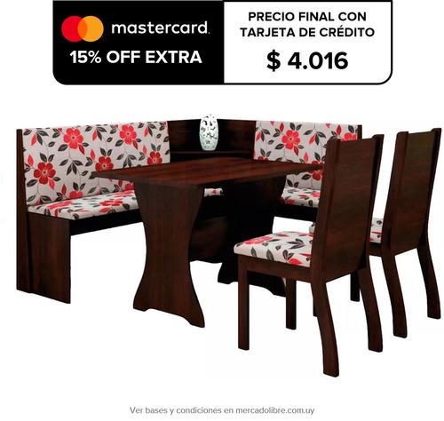 juego comedor esquinero mesas sillas tapizadas loby