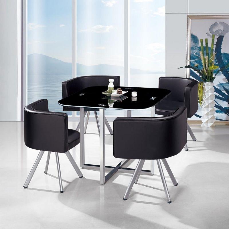 juego comedor mesa de vidrio templado 4 sillas 5