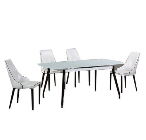 juego comedor mesa extensible 6 sillas vidrio tessa