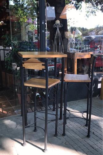 juego completo - bar y sillas altas