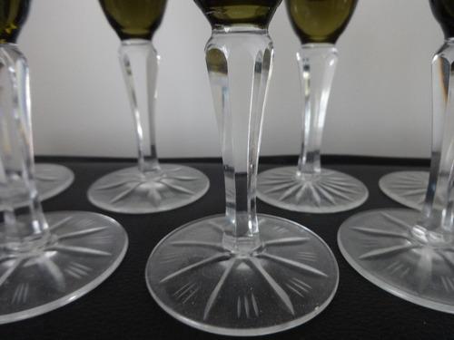 juego de 11 copas de champan antiguas y talladas.impecables
