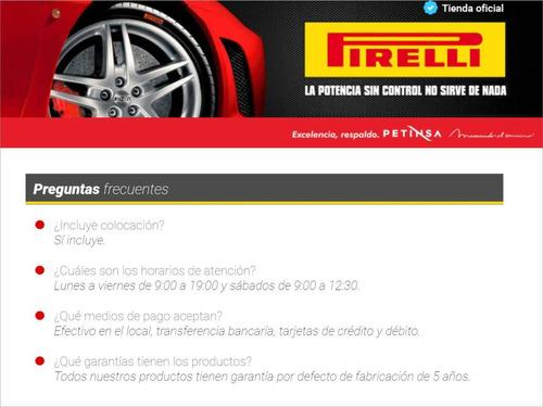 juego de 4 cubiertas pirelli 185/60 hr 15 p7 xl