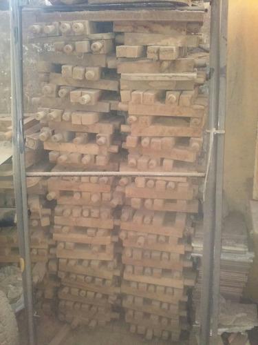 juego de 4 patas de madera rusticas