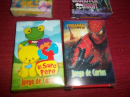 juego de cartas violetta/simpsons/sofia/cars/frozen/spider..