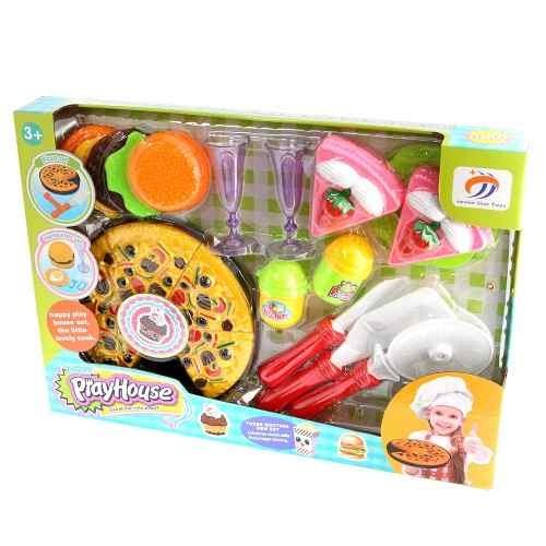 Juego De Cocina Para Niños Con Pizza, Pastel Y Hamburguesa   $ 349,00 En  Mercado Libre