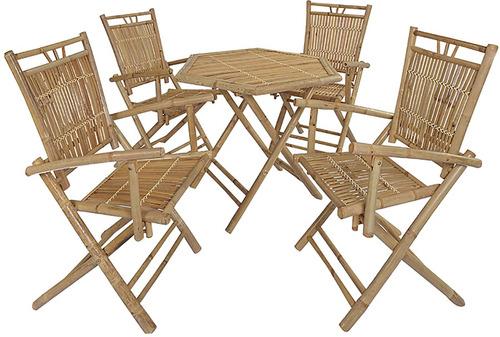 juego de comedor 4 sillas jardin exterior divino