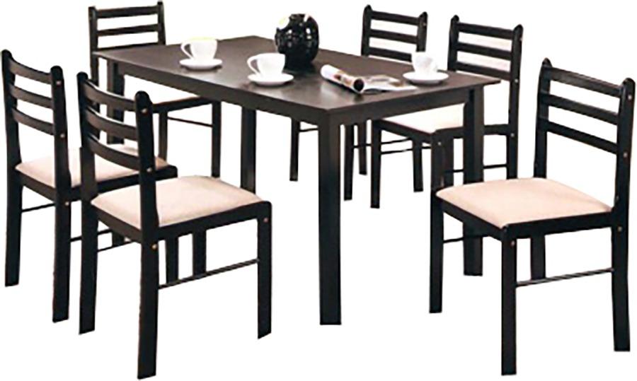 Juego de comedor 6 sillas madera juegos de comedor divino for Juego de comedor de madera de 6 sillas