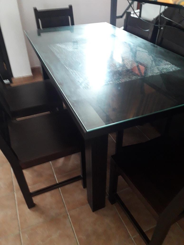 Juego De Comedor Cocina Mesa +6 Sillas Madera En Cedro - $ 16.500,00 ...