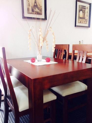 juego de comedor con 4 sillasmesa-sillas- serra amoblamiento