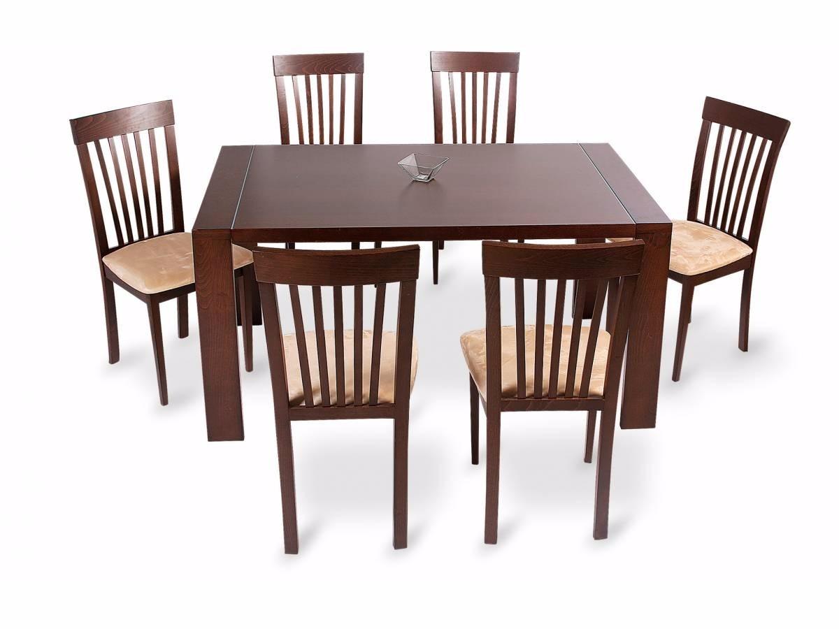 Juego de comedor con 6 sillas concept madera mesa for Mesas de comedor usadas