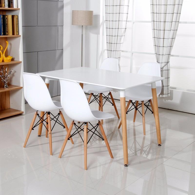 Juego de comedor eames mesa 1 2 mts y 2 sillas for Ofertas de sillas de comedor