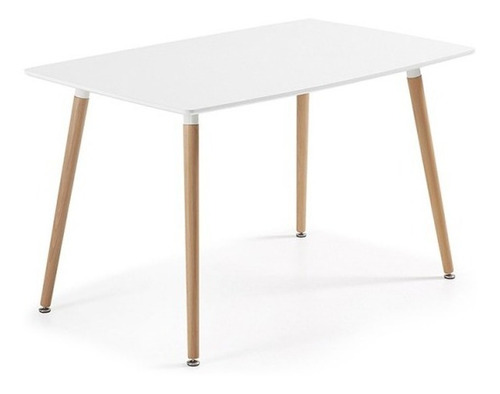 juego de comedor eames mesa 120x80 + 4 sillas acolchonadas