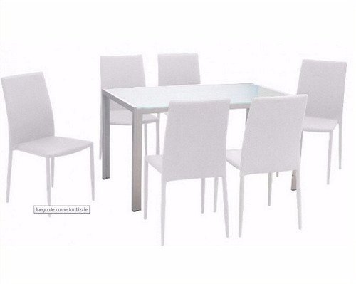 juego de comedor - lizzie | rectangular | 6 sillas| plakards