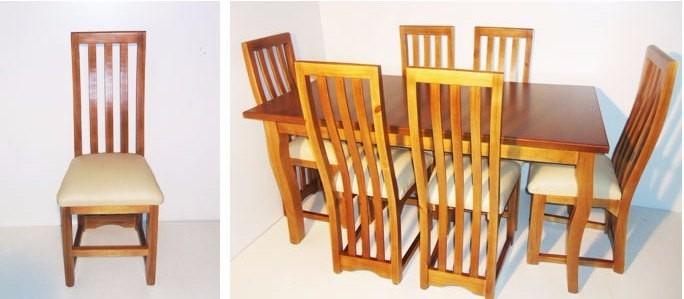 Juego de comedor madera 6 sillas en for Precio de juego de comedor de madera de 6 sillas