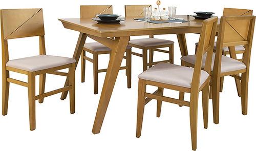 juego de comedor madera 6 sillas comedores divino