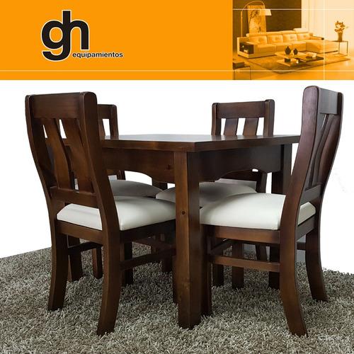 juego de comedor mesa y 4 sillas  variedad de modelos gh