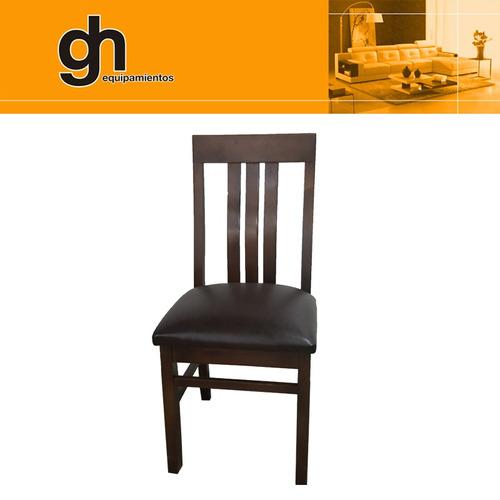 juego de comedor o cocina con 6 sillas , madera  maciza gh