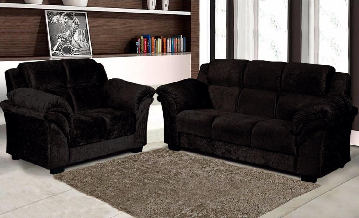 Juego De Living 3 + 2 Juego De Sillones Sofas Sofa Negro ...