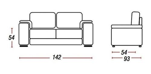 juego de living sillon 3+2 cuerpos sofa pu marrón cordoba