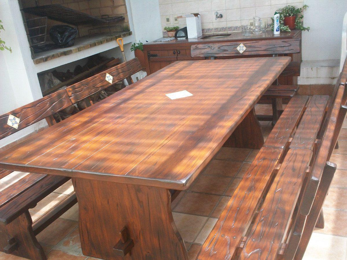 Juego de mesa con bancos para barbacoa en mercado libre - Mesa para barbacoa ...