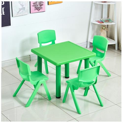 juego de mesa de plastico + 4 sillas de niño - infantil