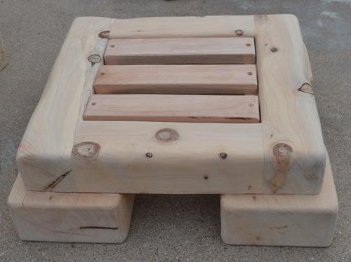 juego de patio de 6 piezas para exterior en ciprés de 4