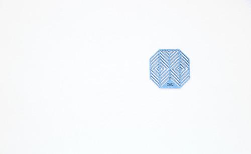 juego de posavasos en fieltro exi azul pastel - tau