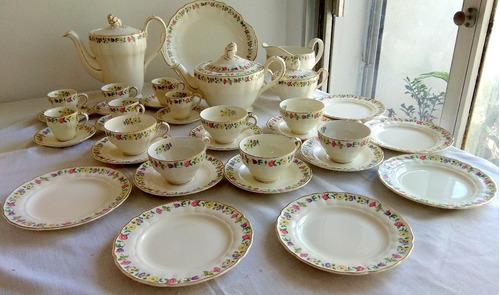 juego de té y postre para 6 personas loza inglesa grindley