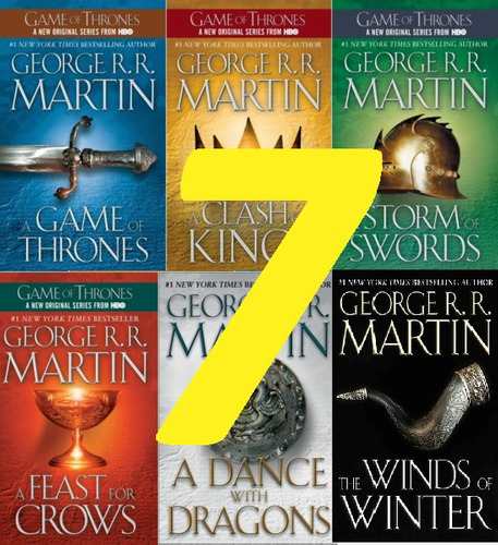 juego de tronos - game of thrones saga oficial x 7 libros