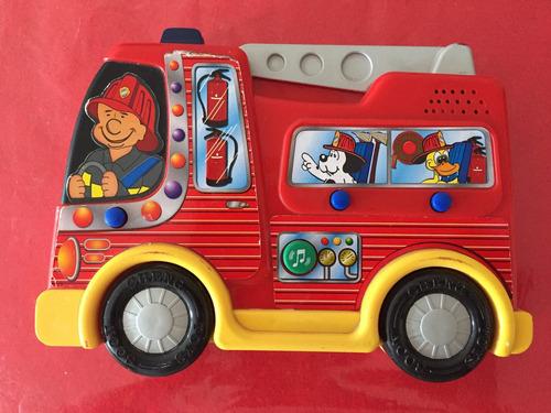 juego didáctico sonoro con forma de camión de bombero