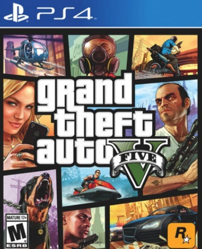 juego fisico ps4 gta 5 grand theft auto v original y sellado