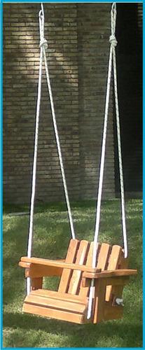 juego hamaca de bebe en pino macizo con cuerda náutica