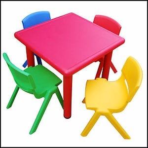 Juego infantil mesa y 4 sillas para ni os plastico calidad - Mesas para ninos de plastico ...