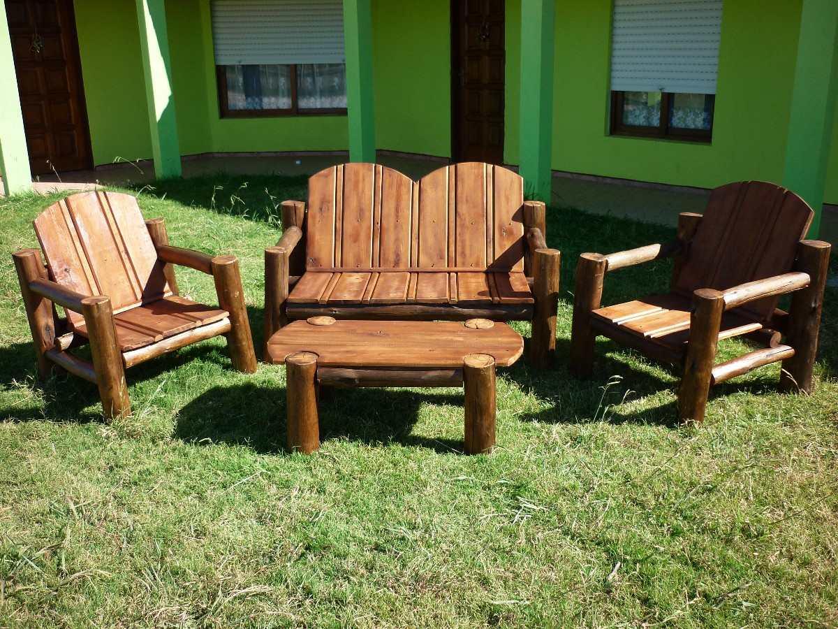 Juego de sillones jardin madera tratada para exterior - Maderas para jardin ...