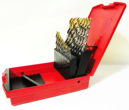 juego mechas acero rapido punta titanio dormer caja 19pz set
