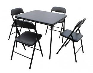 juego para interior y exterior - mesa + 4 sillas plegables