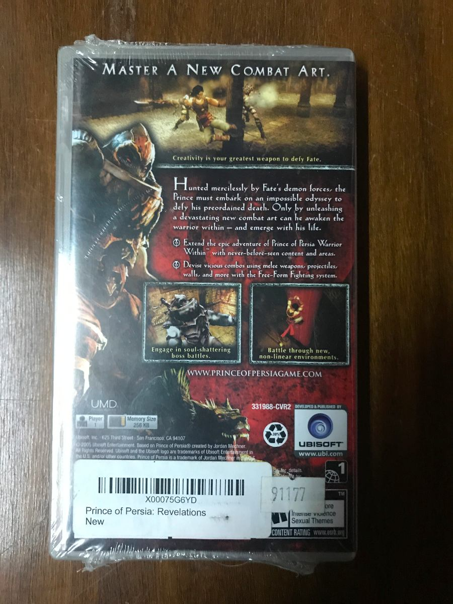 Juego Psp: Prince Of Persia Revelations