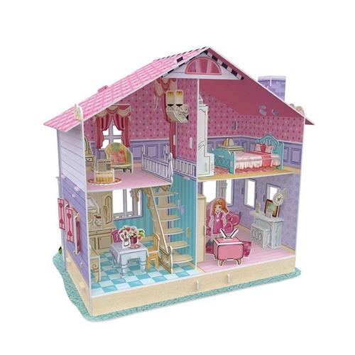 juego puzzle 3d dollhouses -smartmom