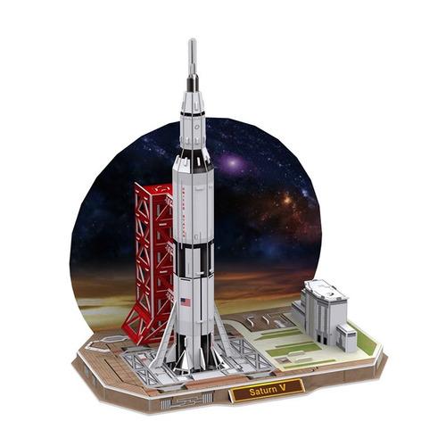 juego puzzle 3d serie space cohete-smartmom