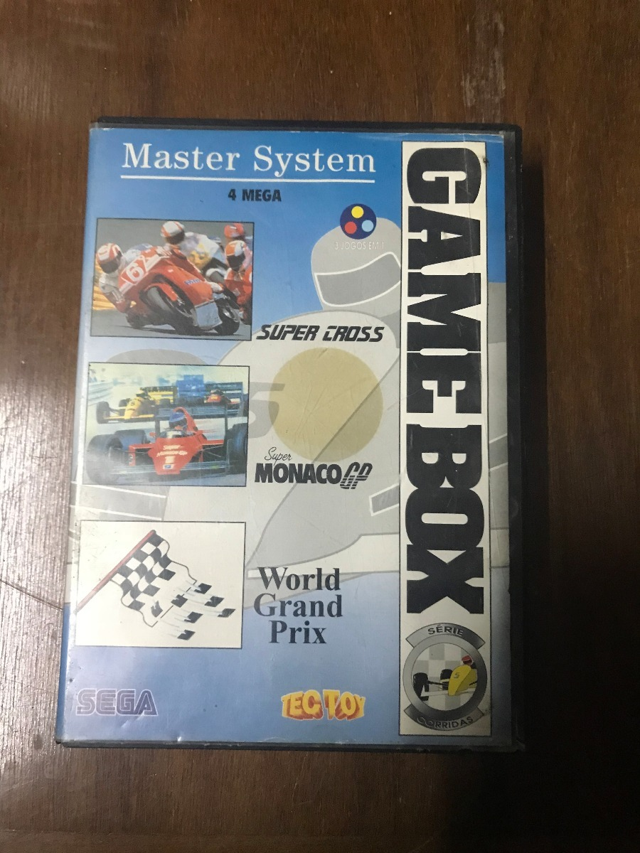 Juego Sega Master System Game Box Serie Corridas Con Caja 3 000