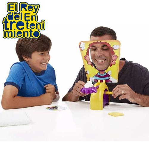 juego tortazo pie face pastelazo + 2 squishy c/ led - el rey