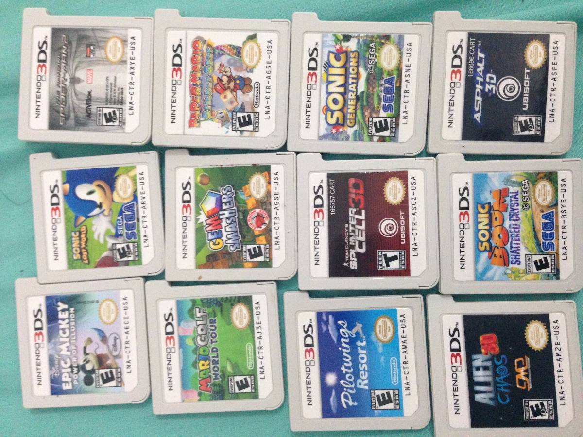 Juegos Nintendo 3ds Zelda Sonic Pokemon Luigi Mansion 1 100