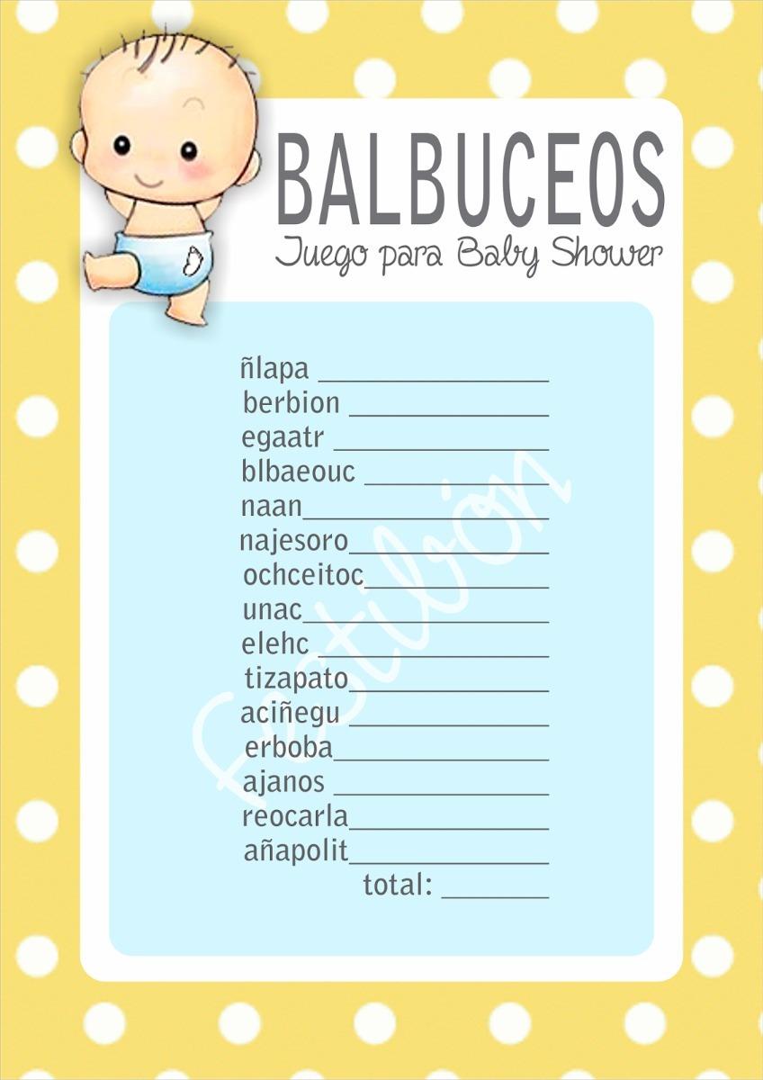 Juegos Para Baby Shower Imprimibles Nino Nina Promo 2x1 99 00 En