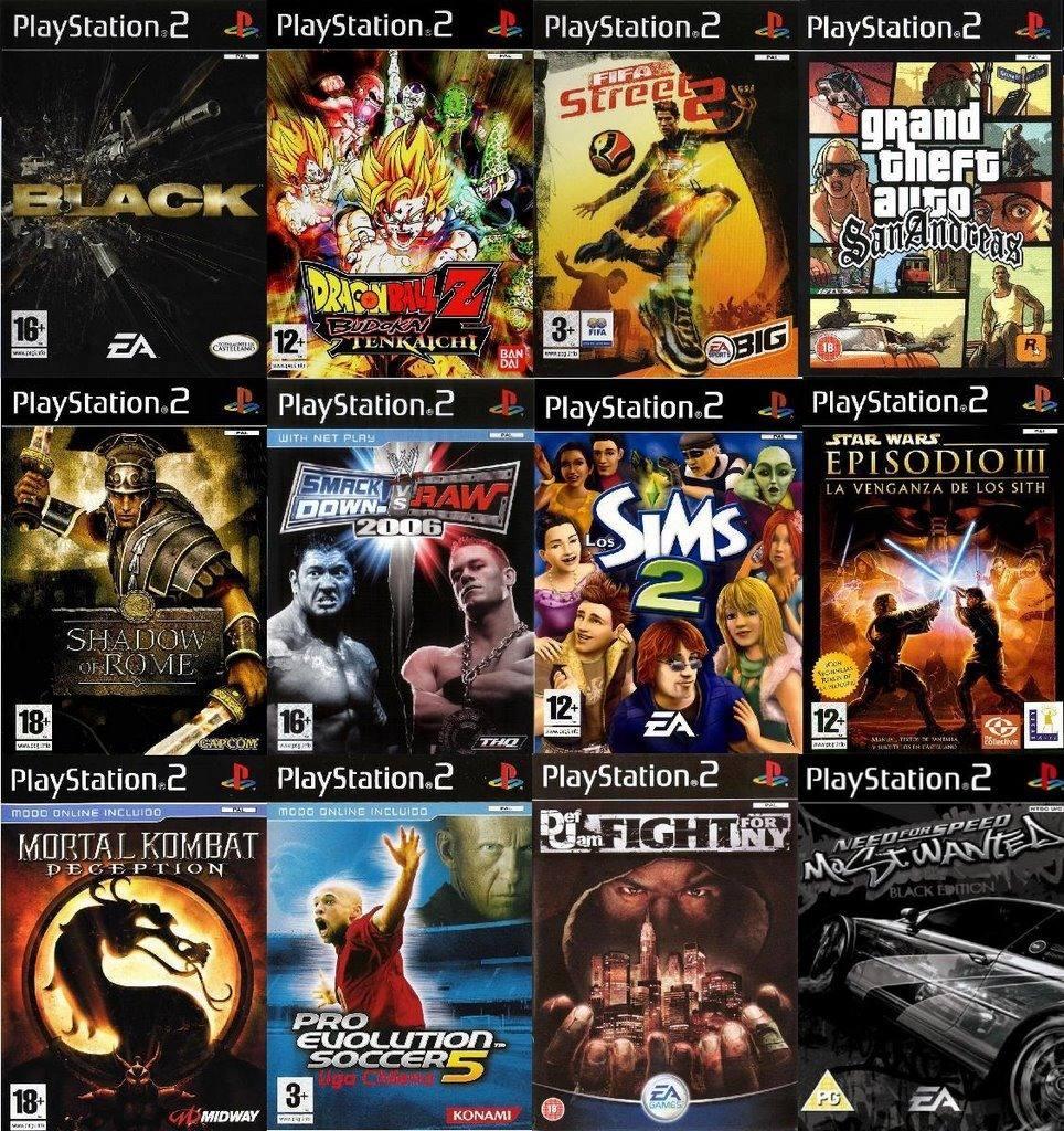 Pack De 20 Juegos De Playstation 2 Play 2 A Eleccion ...